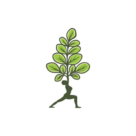 Moringa logo design, healty logo, beauty logo design inspiration, natural yoga logo design inspiration