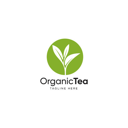 Leaf logo design inspiration, Tea leaf vector isolated on white background  イラスト・ベクター素材