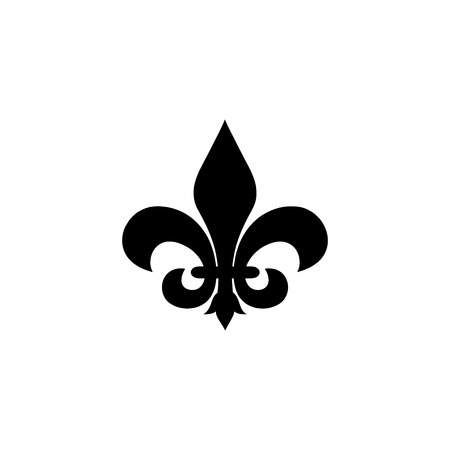 Fleur de lis vector illustration isolated on white background 矢量图像