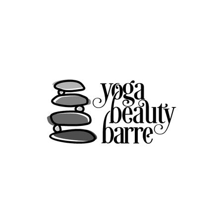 Yoga stone logo design inspiration isolated on white background