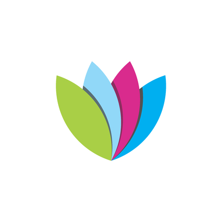 Abstrac vibrant tulip flower logo design inspiration 矢量图像