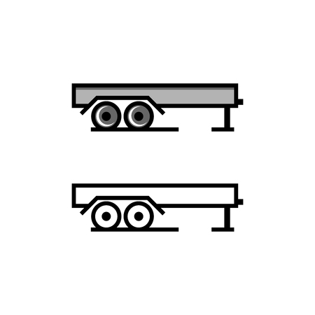 Trailer box vector illustration
