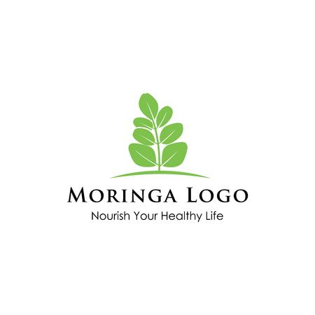 Moringa logo design inspiration isolated on white background Illustration