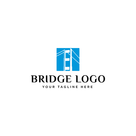 Bridge logo design inspiration isolated on white background