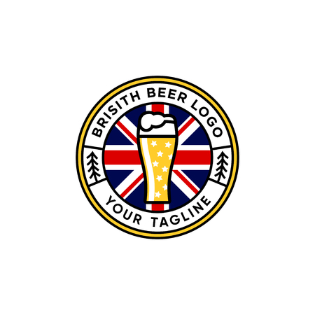 British beer emblem logo design inspiration - Beer logo design inspiration isolated on white background