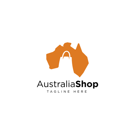 Australian shop logo design inspiration isolated on white background