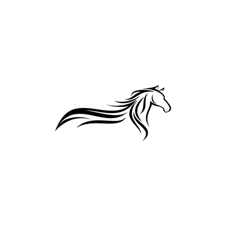 Abstract horse logo design inspiration
