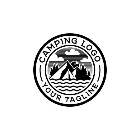Camp logo design inspiration, outdoor logo design inspiration isolated on white background