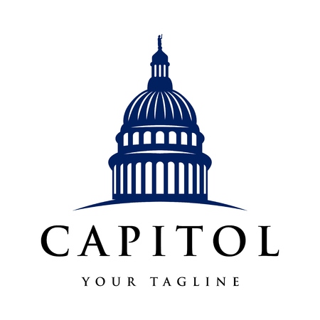 Capitol dome logo design inspiration - Capital logo design inspiration isolated on white background