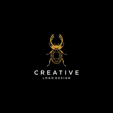 Jewelry logo design inspiration, bug logo design, beetle logo design inspiration isolated on white background