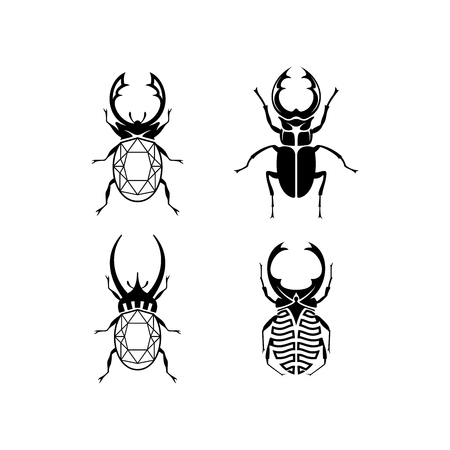 Schmuck-Logo-Design-Inspiration, Bug-Logo-Design, Käfer-Logo-Design-Inspiration isoliert auf weißem Hintergrund