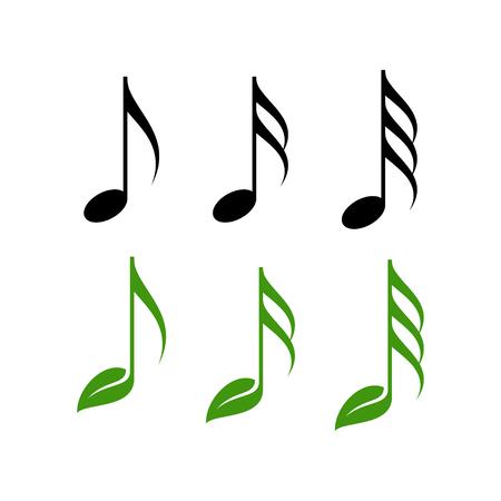 music note icon vector illustration Vettoriali