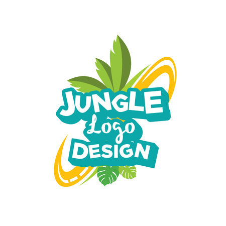 Jungle Logo Design illustration, Park logo design inspiration isolated on white background Ilustrace