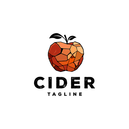 Apple cider logo design inspiration isolated on white background - Cider logo design inspiration isolated on white background