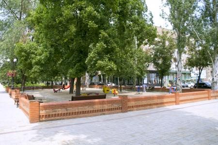 Popular city platform for children, for game. photo