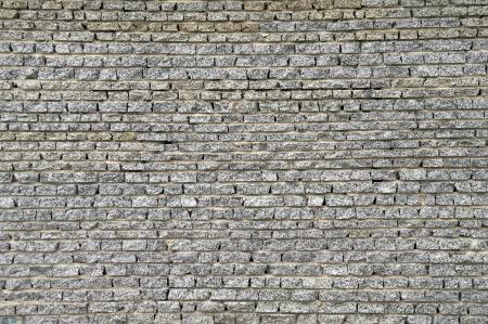 Wall from a granite brick  photo