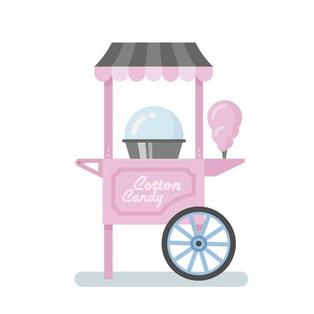 Ilustración de la máquina de algodón dulces plana Foto de archivo - 85330502