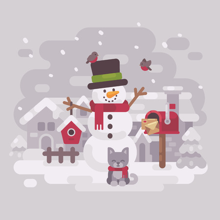 Happy snowman icon.