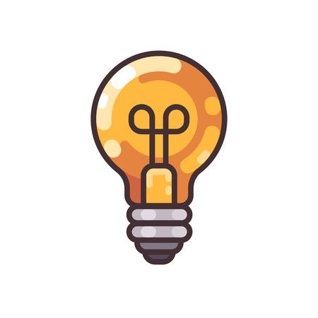Light bulb flat outline icon.