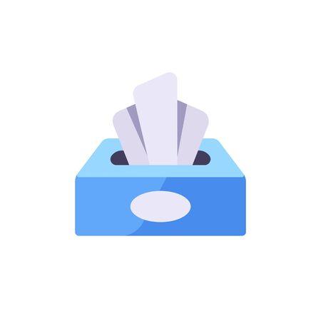 Paper tissue box vector illustration. Hygiene flat icon