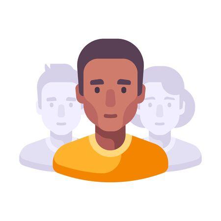 Team work flat illustration. Social media community flat icon