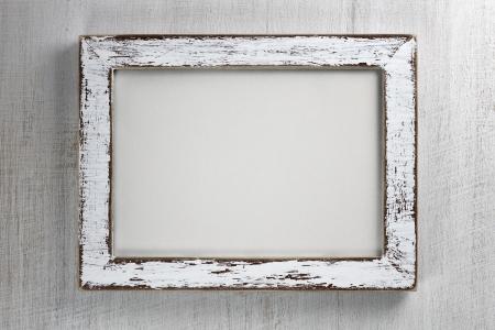 Vintage houten frame op muur achtergrond Stockfoto
