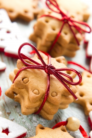 baking cookies: Natale cookie Archivio Fotografico