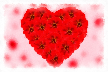 Valentine heart flowers photo