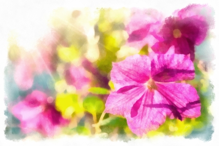 Flowers watercolor photo