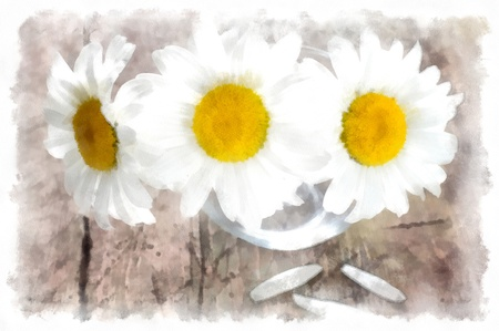 country life: Flowers watercolor