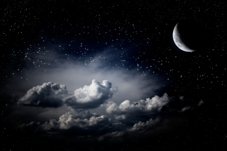 night sky: Đêm sao trên bầu trời