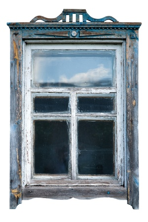 windows frame: Old window frame Stock Photo