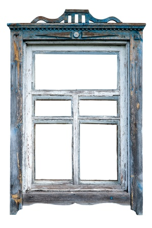 Old window frame Stock Photo
