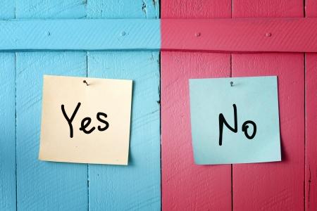 Sì o no decisione Archivio Fotografico - 21418703