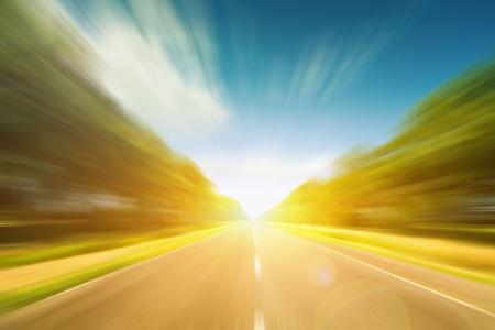 Landschap: Weg motion