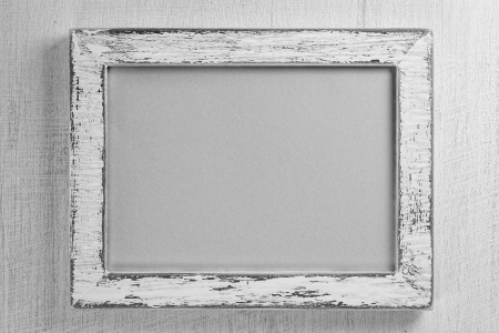 wooden frame: Empty frame Stock Photo