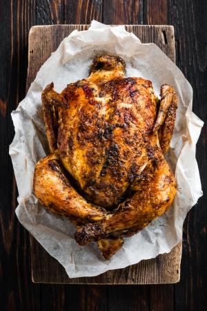 chicken roast: Pollo Foto de archivo