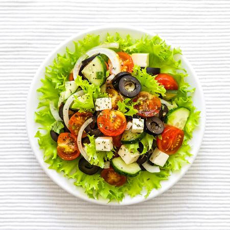 ギリシャ風サラダ 写真素材