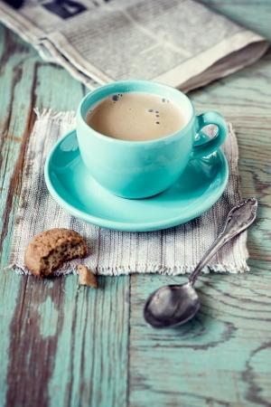 아침: 커피