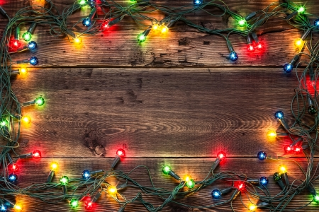 lights on: Christmas background