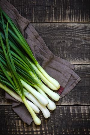 scallion: Spring onion Stock Photo
