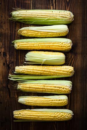 Fresh corn cobs Stok Fotoğraf