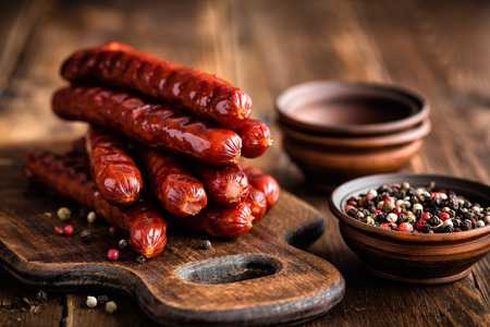 cooked sausage: Sausages Stock Photo