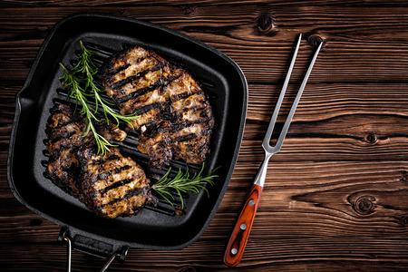 bbq grill: beef steak Stock Photo