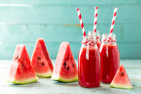 fresh watermelon smoothie drink