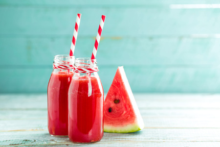 fresh watermelon smoothie drink Banco de Imagens - 61699464