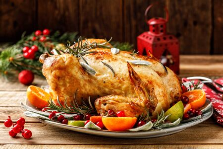 Christmas turkey for festive dinner