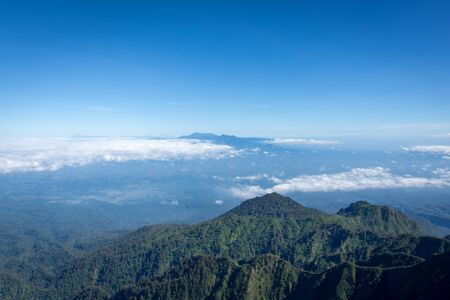 A view from Flag Peak or Puncak Bendera (3,140m). Raung is the most challenging of all Java's mountain trails, also is one of the most active volcanoes on the island of Java in Indonesia.