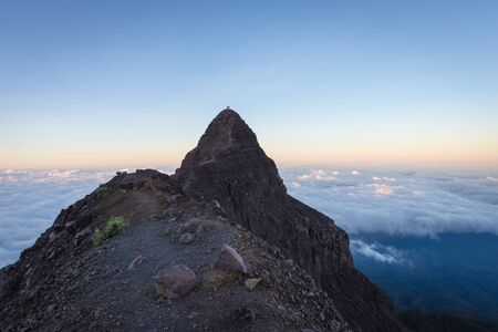 An extreme track to Raung mount summit called Puncak Sejati. Raung is the most challenging of all Java's mountain trails, also is one of the most active volcanoes on the island of Java in Indonesia.