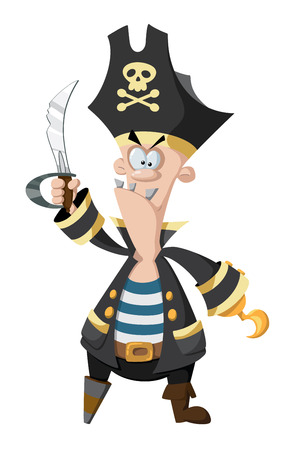 filibuster: illustration of a angry pirate